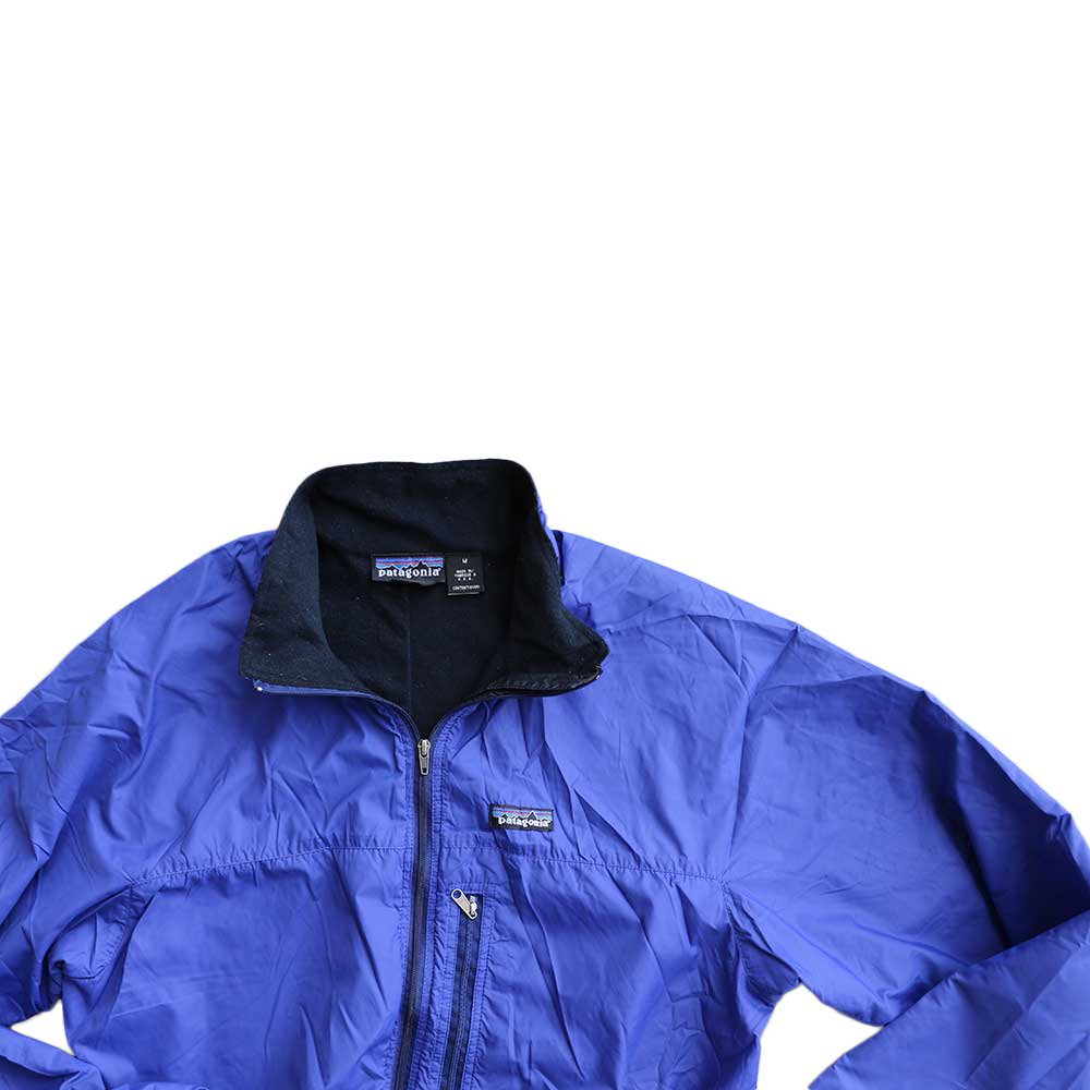 w-means(ダブルミーンズ) Patagonia nylon jacket(MADE IN FABRIQUE A U.S.A)表記M BLUE 詳細画像2