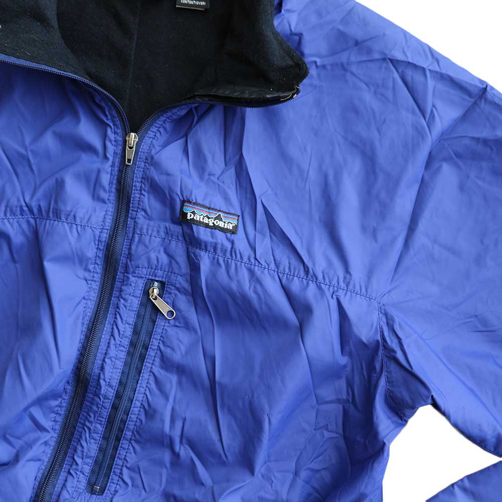 w-means(ダブルミーンズ) Patagonia nylon jacket(MADE IN FABRIQUE A U.S.A)表記M BLUE 詳細画像3