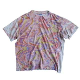 Hanes 100% cotton 半袖Tシャツ(Made in U.S.A.)表記xL 総柄