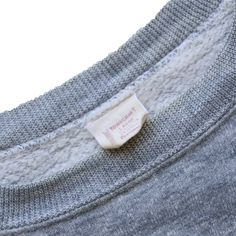 w-means(ダブルミーンズ) Penneys TOWNCRAFT cotton crew sweat  表記L  ASH GRAY 詳細画像1