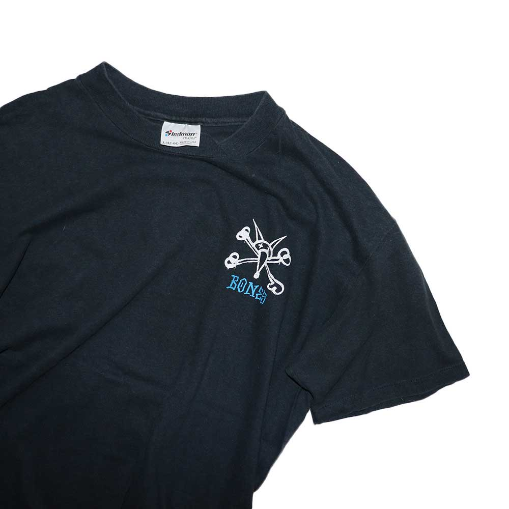 w-means(ダブルミーンズ) BONES  cotton 半袖Tシャツ(Made in U.S.A.)表記L  Black 詳細画像1