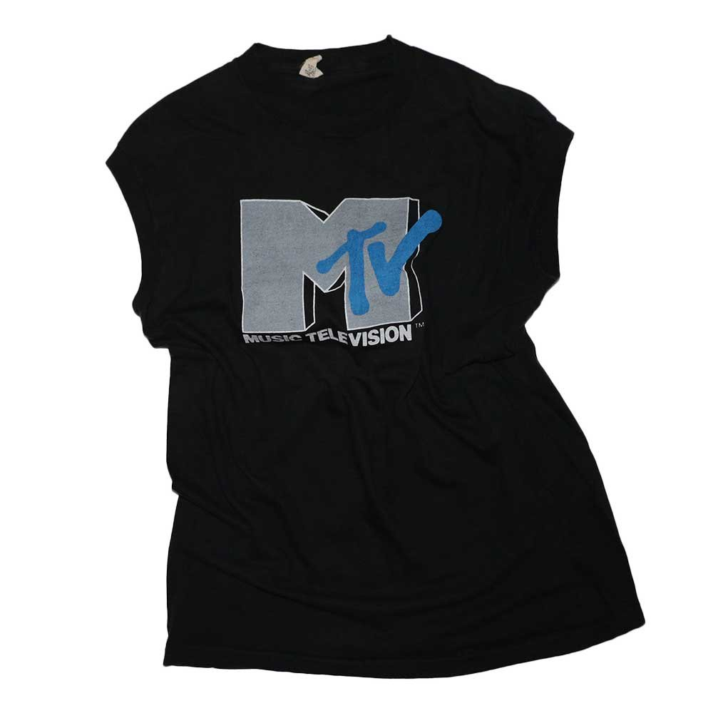 w-means(ダブルミーンズ) MTV 100% Cotton ノースリーブシャツ(Made in U.S.A.)表記xL  Black 詳細画像