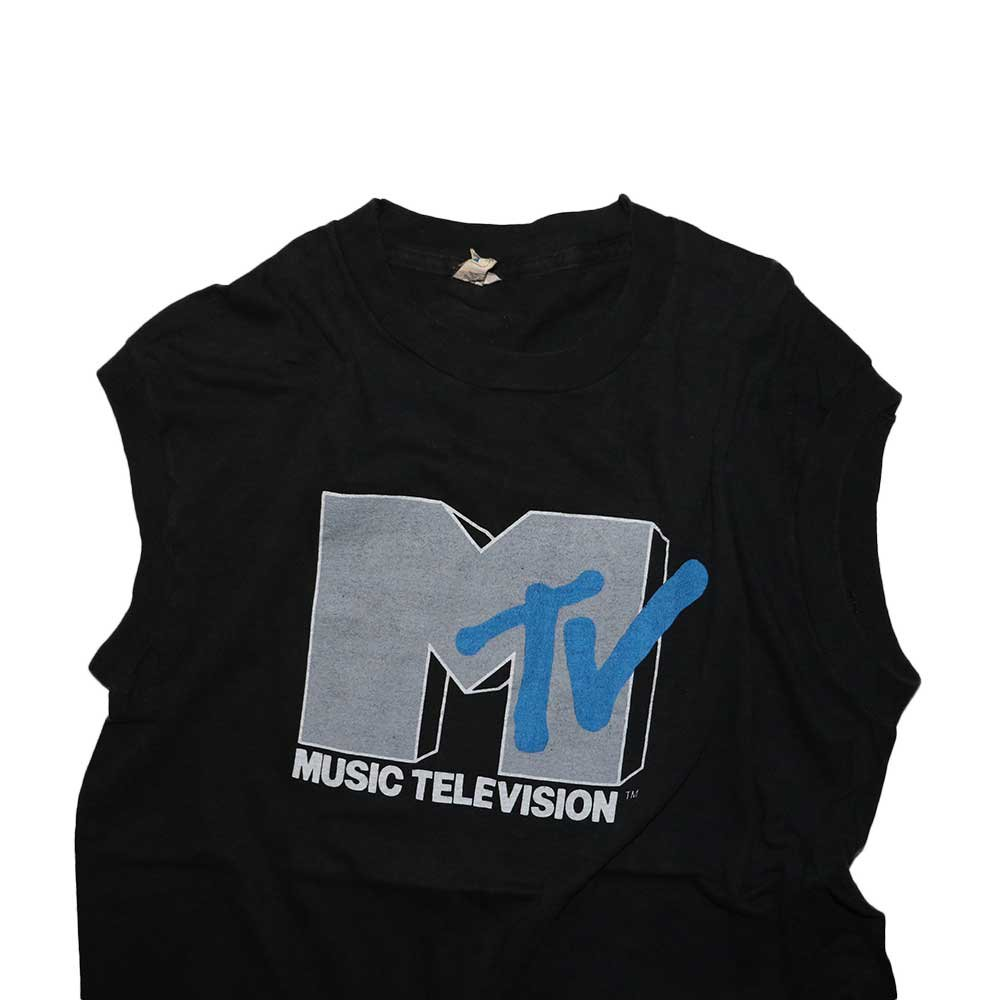 w-means(ダブルミーンズ) MTV 100% Cotton ノースリーブシャツ(Made in U.S.A.)表記xL  Black 詳細画像1