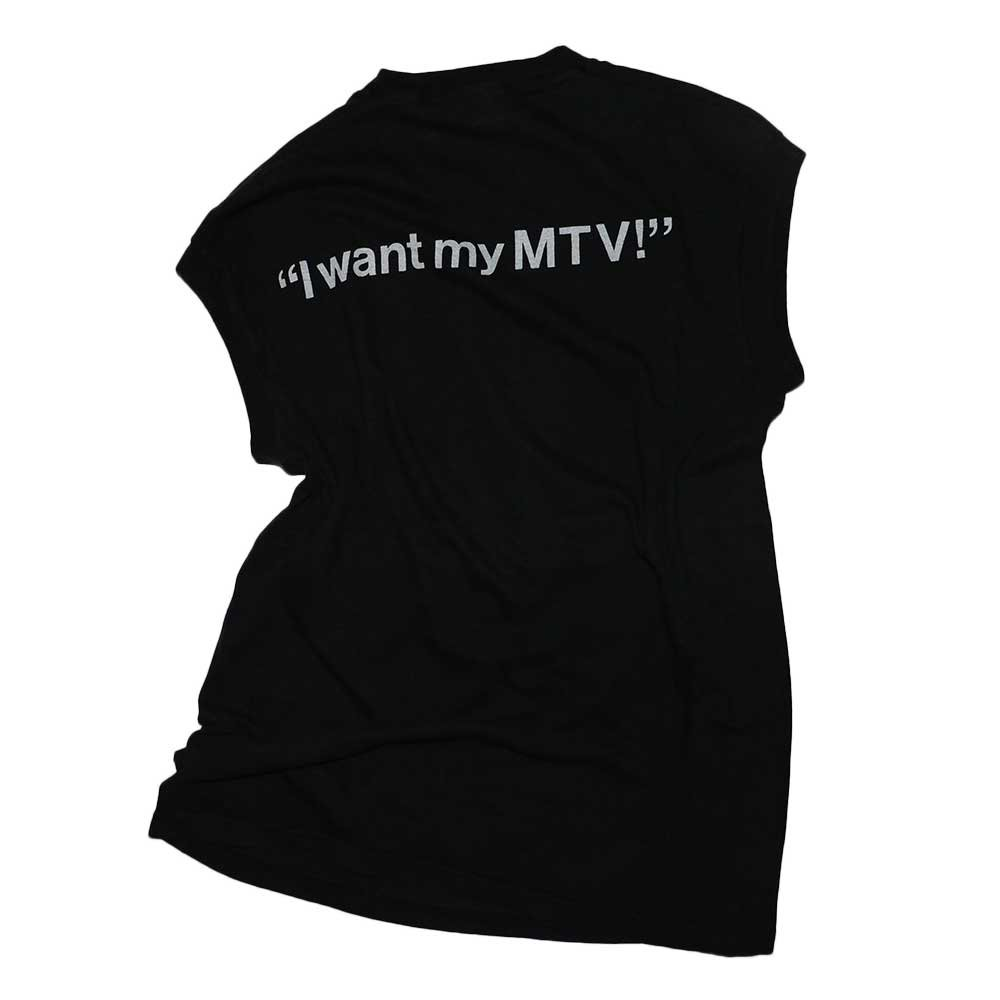 w-means(ダブルミーンズ) MTV 100% Cotton ノースリーブシャツ(Made in U.S.A.)表記xL  Black 詳細画像2