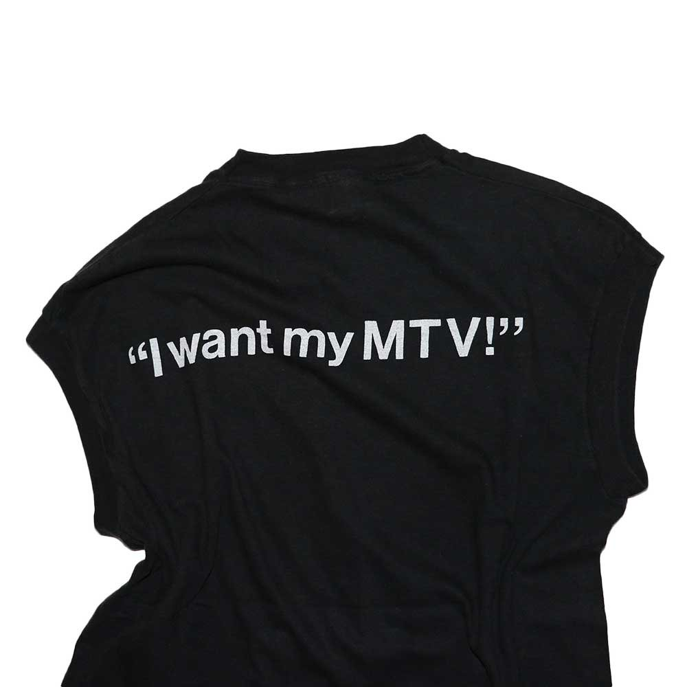 w-means(ダブルミーンズ) MTV 100% Cotton ノースリーブシャツ(Made in U.S.A.)表記xL  Black 詳細画像3