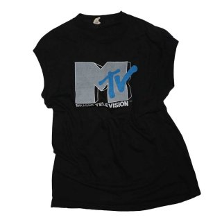 MTV 100% Cotton ノースリーブシャツ(Made in U.S.A.)表記xL  Black