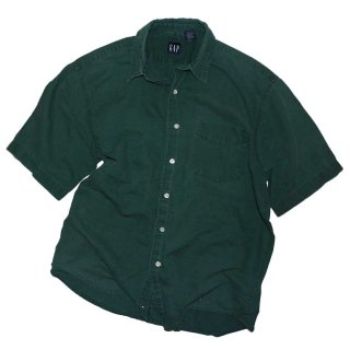 G A P  LINEN 半袖シャツ(Made in MADAGASCAR)表記L  GREEN