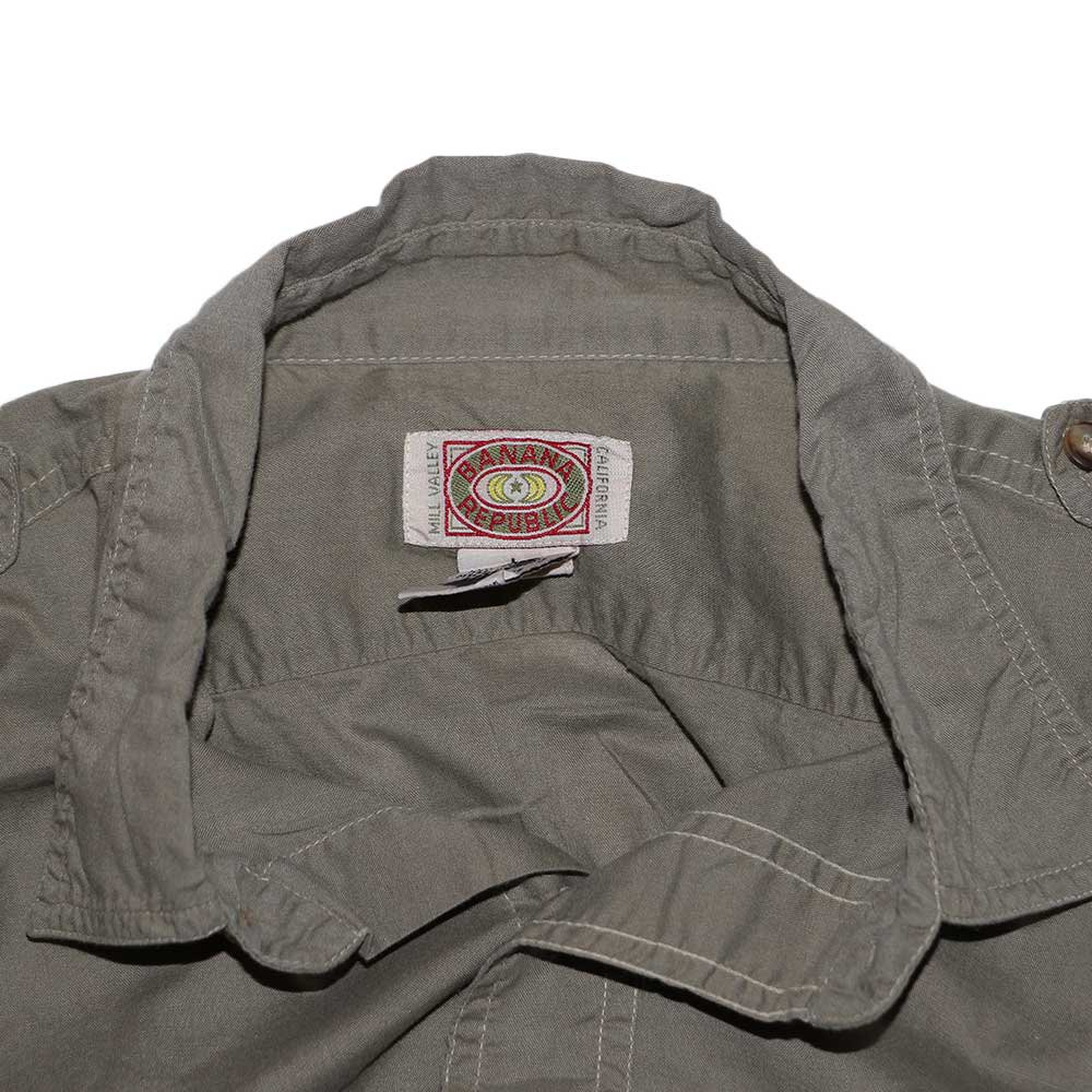 w-means(ダブルミーンズ) BANANA REPUBLIC 100% cotton 長袖シャツ(Made in INDIA)表記L  Safari Brown 詳細画像1