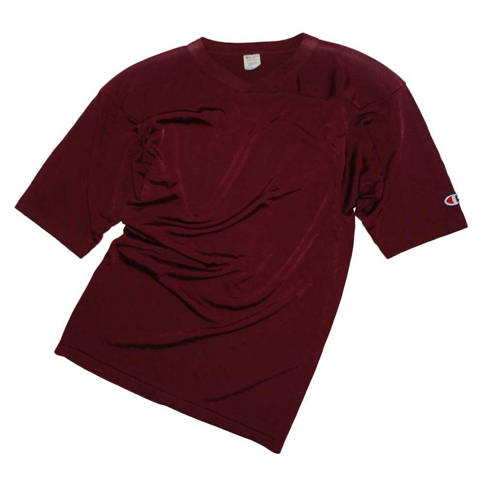 w-means(ダブルミーンズ) Champion 50/50 ナイロンフットボールシャツ(Made in U.S.A.)表記S  Burgundy 詳細画像