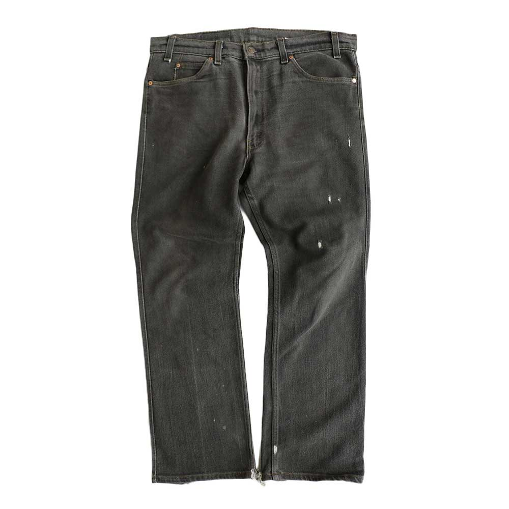 w-means(ダブルミーンズ) Levis 517  デニムストレッチパンツ(Made in U.S.A.)表記38  炭黒 詳細画像