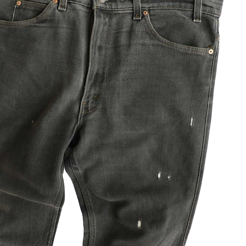 w-means(ダブルミーンズ) Levis 517  デニムストレッチパンツ(Made in U.S.A.)表記38  炭黒 詳細画像2
