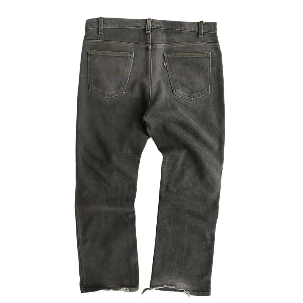 w-means(ダブルミーンズ) Levis 517  デニムストレッチパンツ(Made in U.S.A.)表記38  炭黒 詳細画像3