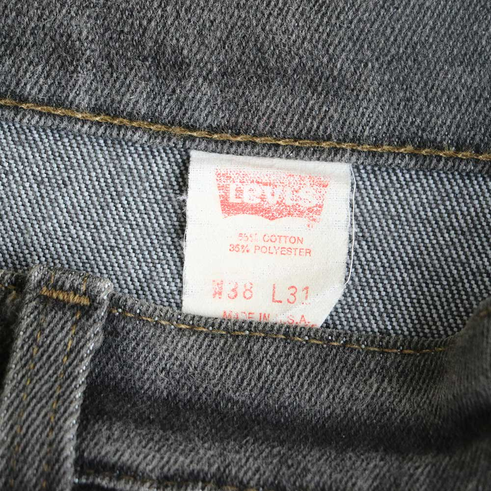 w-means(ダブルミーンズ) Levis 517  デニムストレッチパンツ(Made in U.S.A.)表記38  炭黒 詳細画像5