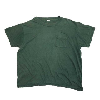 70's Allcotton Pocket 半袖Tシャツ( Made in U.S.A.)表記 L  ForestGreen