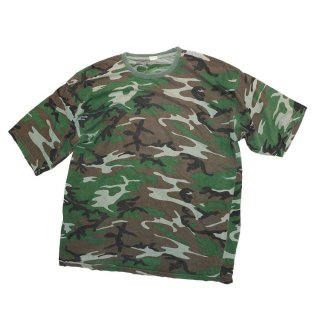 unknown 100% cotton 半袖Tシャツ 表記xL  woodland camo