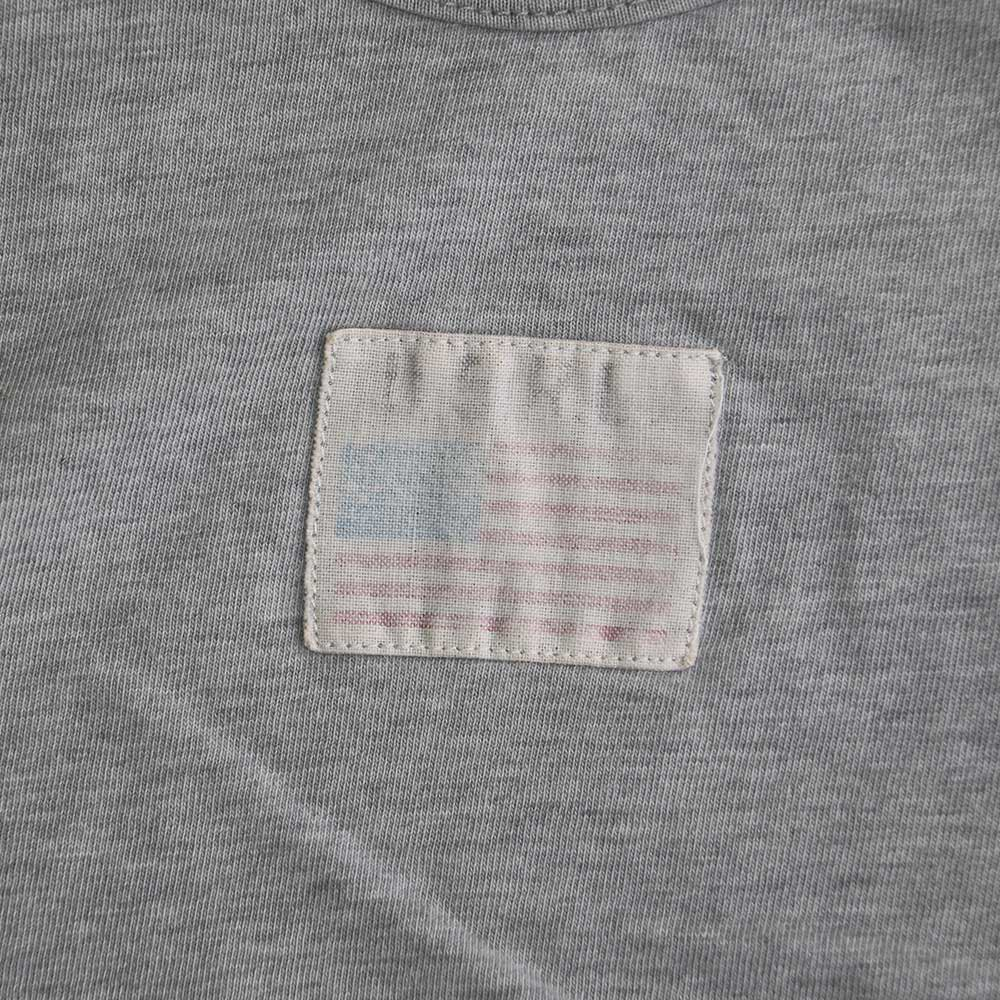 w-means(ダブルミーンズ) POLO SPORT 100% コットンランニングトップ(Made in CANADA)表記M  Gray 詳細画像2