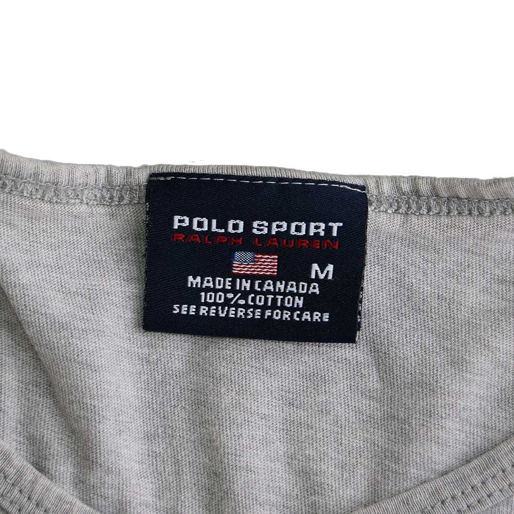 w-means(ダブルミーンズ) POLO SPORT 100% コットンランニングトップ(Made in CANADA)表記M  Gray 詳細画像3