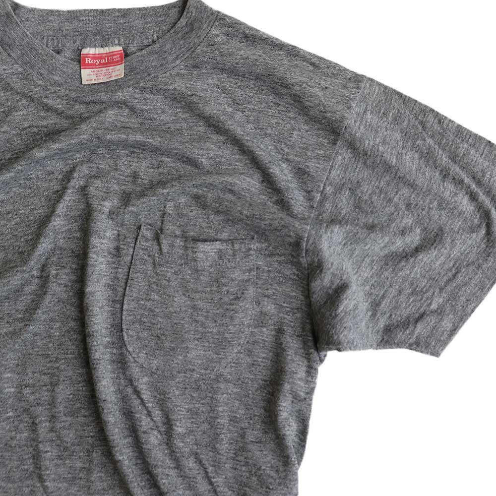 w-means(ダブルミーンズ) Royal 50/50 半袖ポケットTシャツ(Made in U.S.A.)表記M  D. Gray 詳細画像2