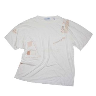 le coq sportif 100% cotton 半袖Tシャツ(Made in U.S.A.)表記M white