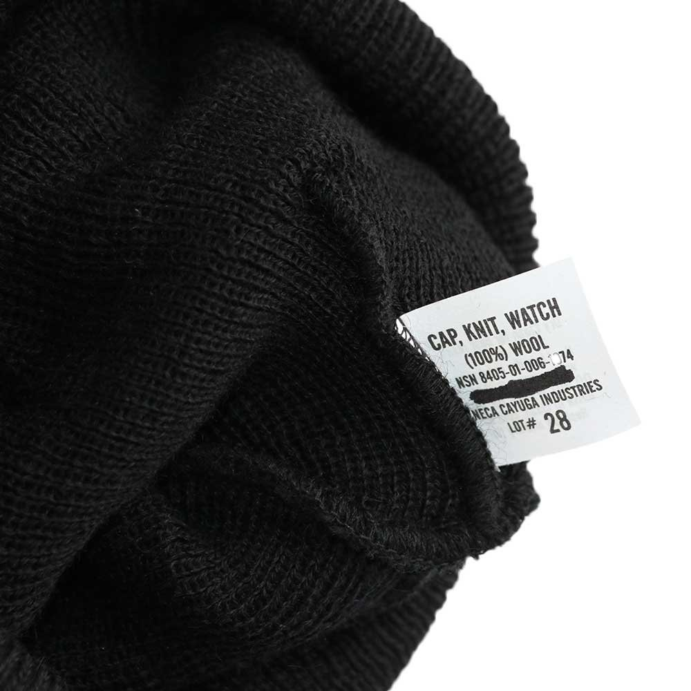 w-means(ダブルミーンズ) U.S. ARMY(Dead stock)100% Wool ニットキャップ (One size fits all)  Black 詳細画像2