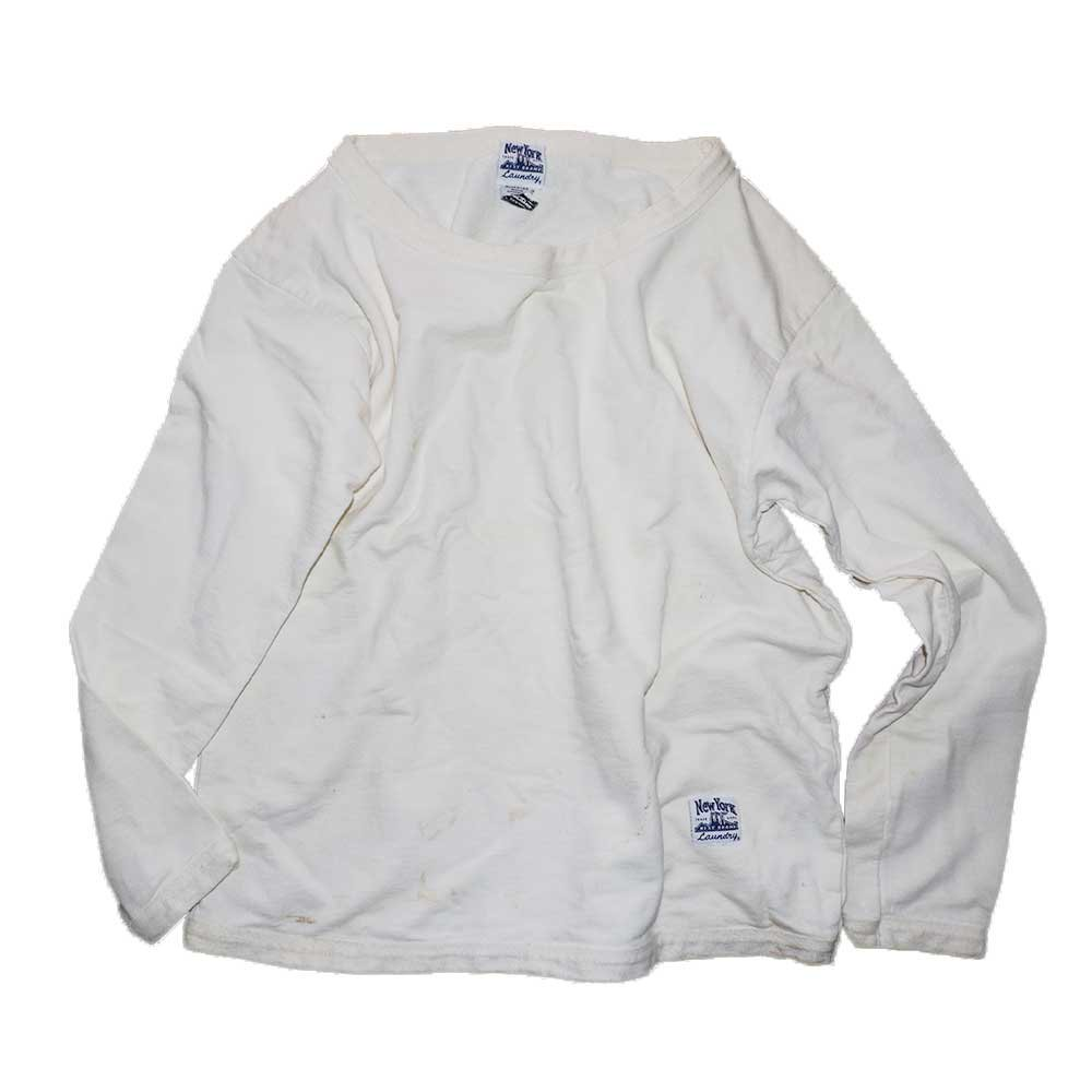 w-means(ダブルミーンズ) NewYork  BEST BRAND  Laundry ボートネックスウェットシャツ(Made in U.S.A.)表記M  White 詳細画像