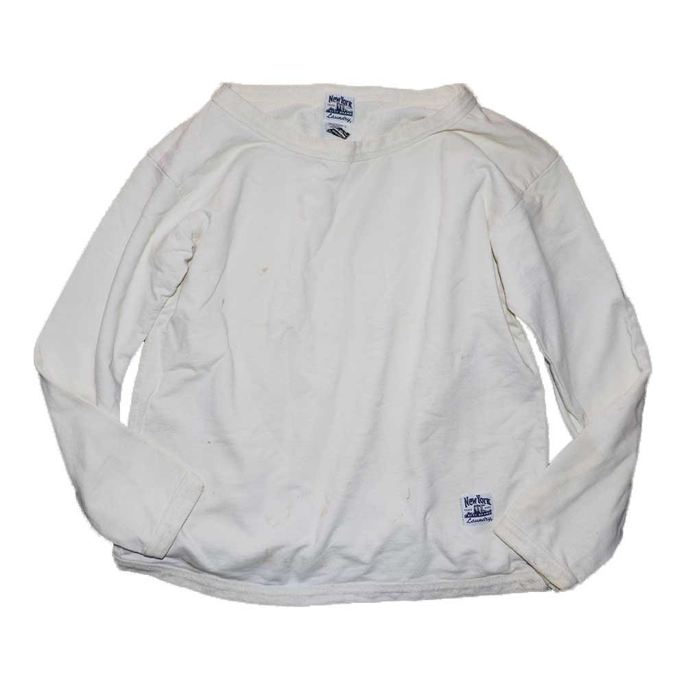 w-means(ダブルミーンズ) NewYork  BEST BRAND  Laundry ボートネックスウェットシャツ(Made in U.S.A.)表記M  White 詳細画像1