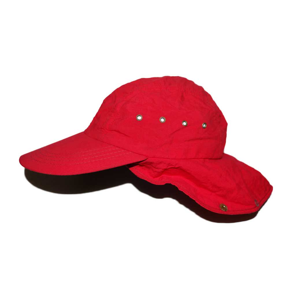 w-means(ダブルミーンズ) L.L.Bean Nylon Cap(Made in U.S.A.)表記 LARGE   Red 詳細画像