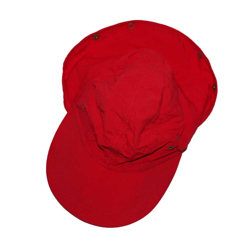 w-means(ダブルミーンズ) L.L.Bean Nylon Cap(Made in U.S.A.)表記 LARGE   Red 詳細画像1