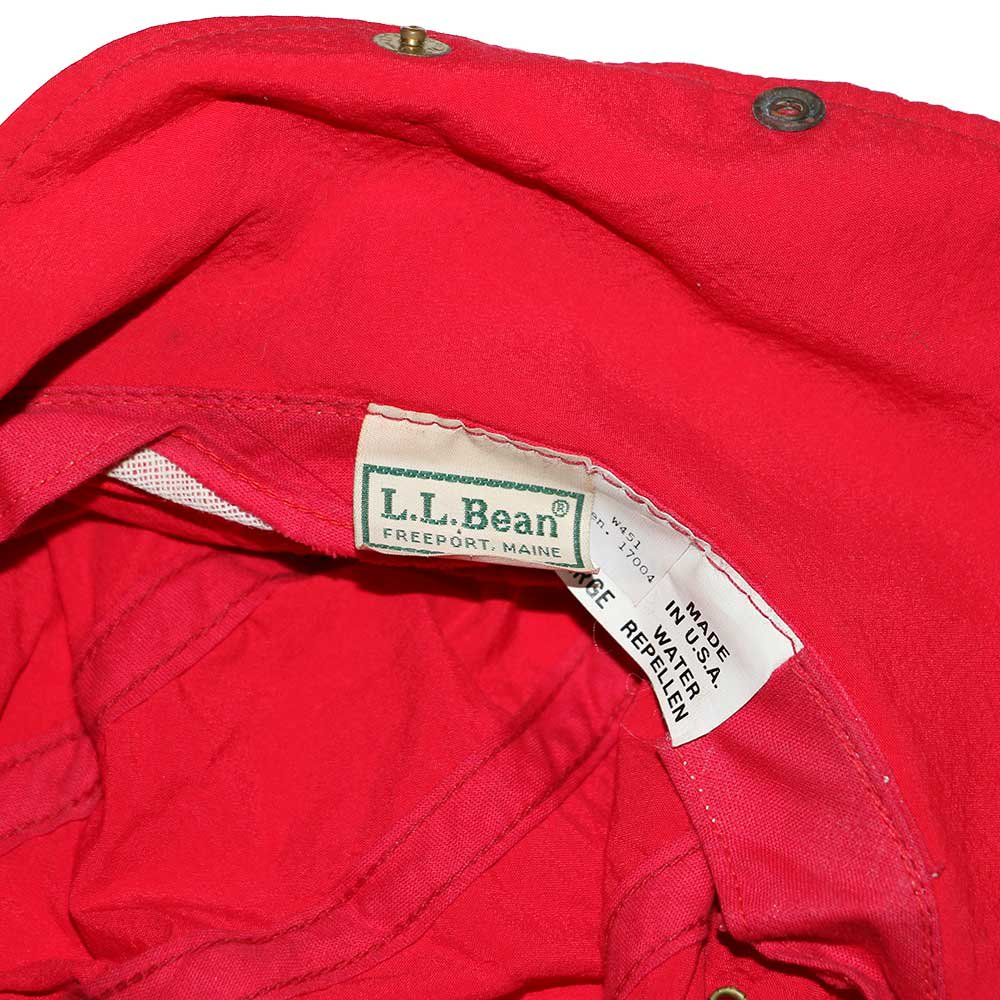w-means(ダブルミーンズ) L.L.Bean Nylon Cap(Made in U.S.A.)表記 LARGE   Red 詳細画像3