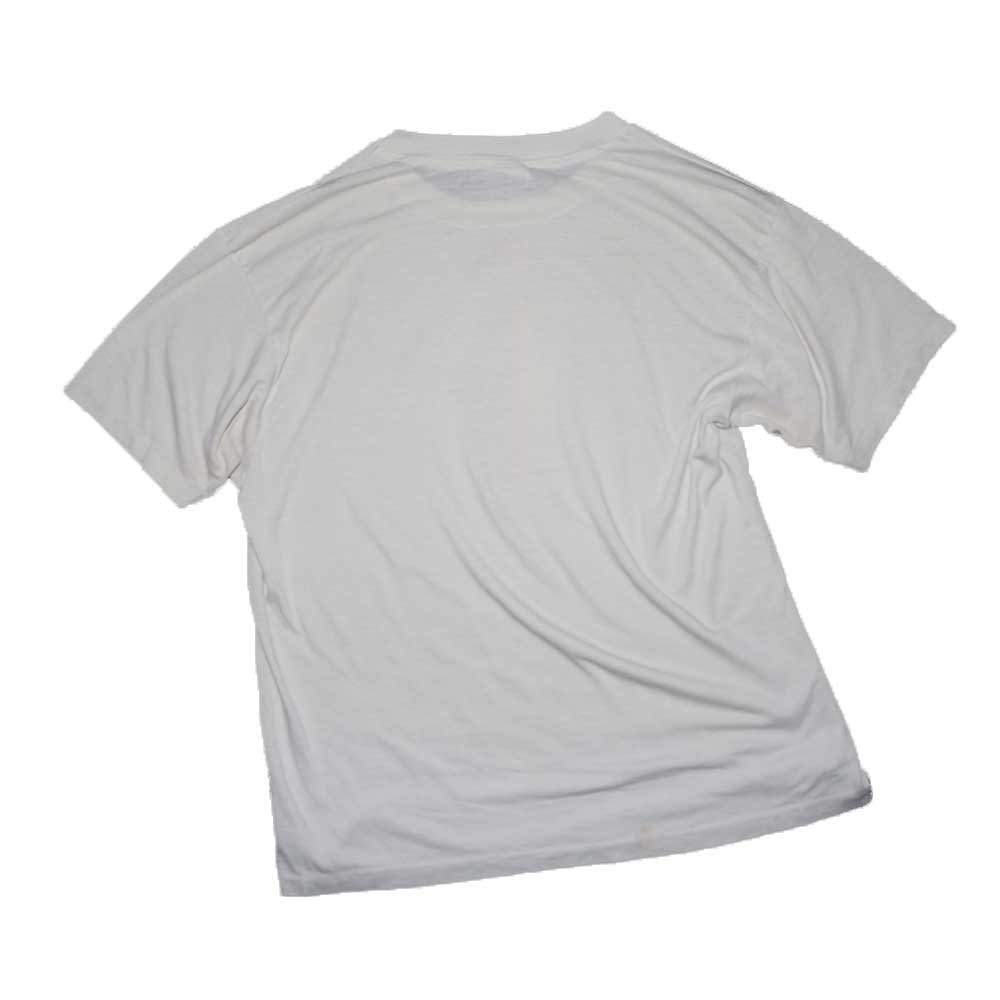 w-means(ダブルミーンズ) 50/50 Hanes デザイン半袖Tシャツ (Made in U.S.A.)表記xL  white 詳細画像2