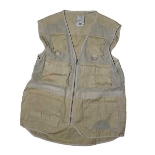 BUGLE BOY RAMIE COTTON VEST 表記xL  sand beige