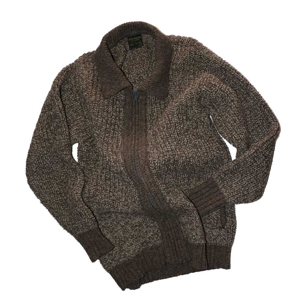 w-means(ダブルミーンズ) INIS MEAIN KNIT WEAR (Made in IRELAND)表記42  薄茶色 詳細画像