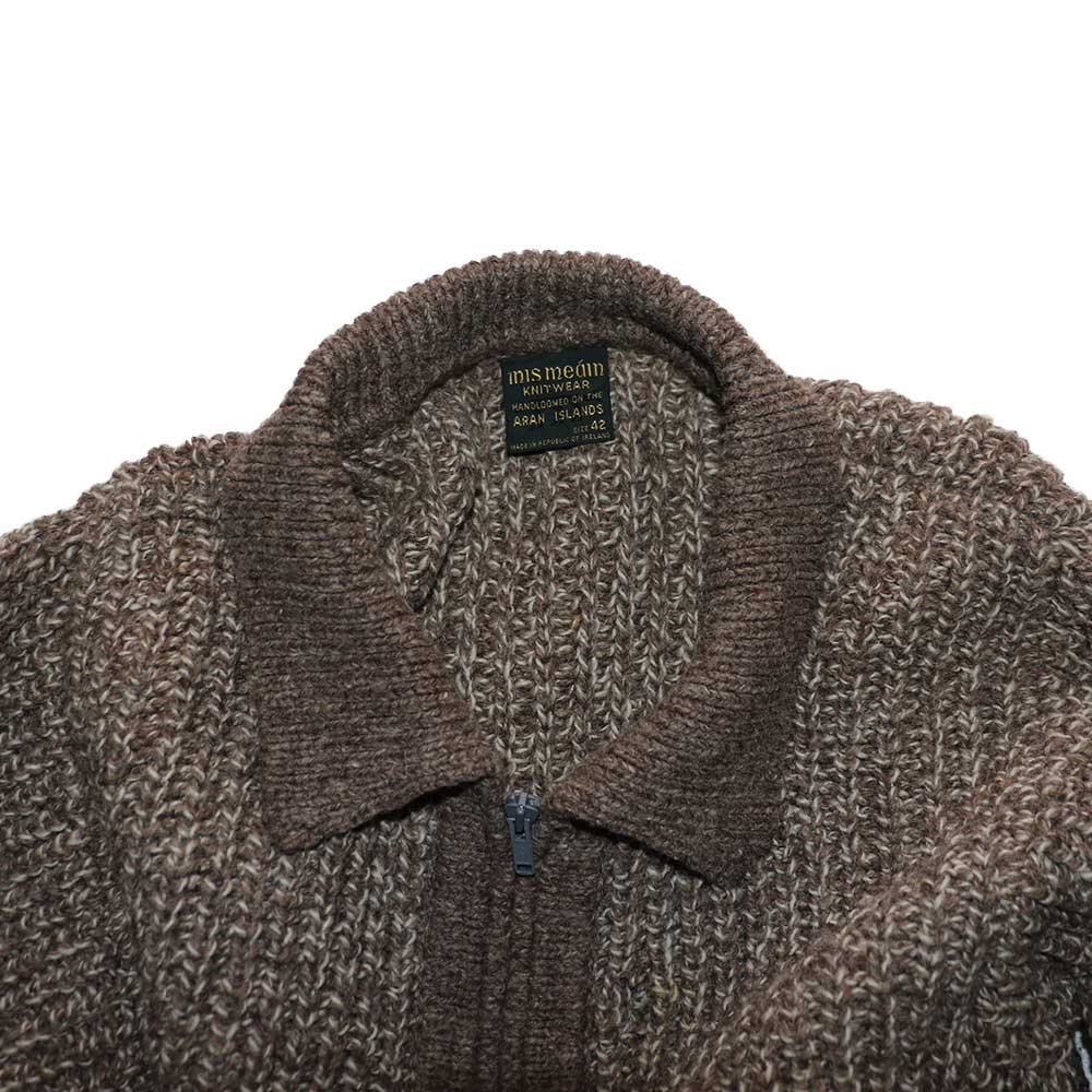 w-means(ダブルミーンズ) INIS MEAIN KNIT WEAR (Made in IRELAND)表記42  薄茶色 詳細画像1