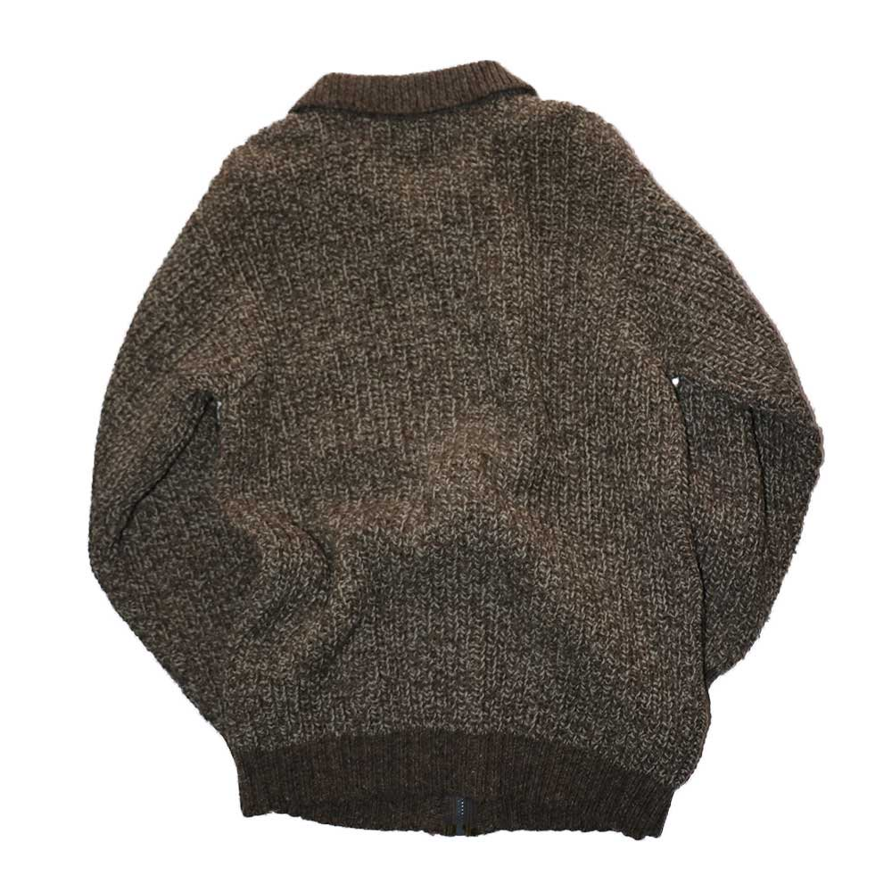 w-means(ダブルミーンズ) INIS MEAIN KNIT WEAR (Made in IRELAND)表記42  薄茶色 詳細画像3
