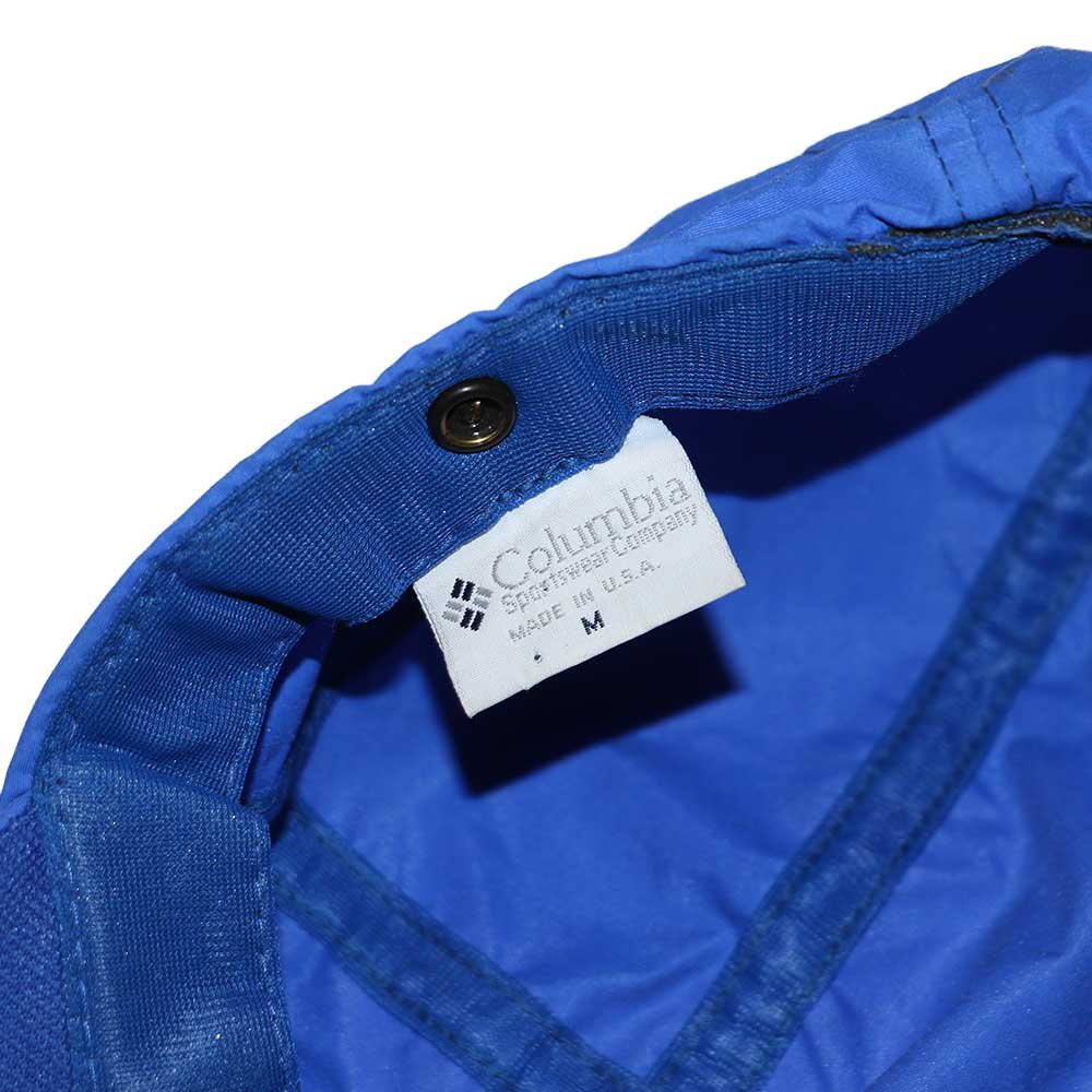 w-means(ダブルミーンズ) Columbia ナイロンキャップ (Made in U.S.A.)表記(Mens)M  ROYAL BLUE 詳細画像2