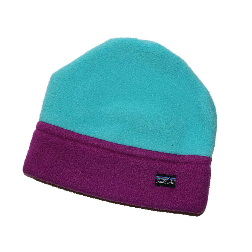 w-means(ダブルミーンズ) Patagonia  freece  cap (Made in U.S.A.)表記S  mint green × grape 詳細画像