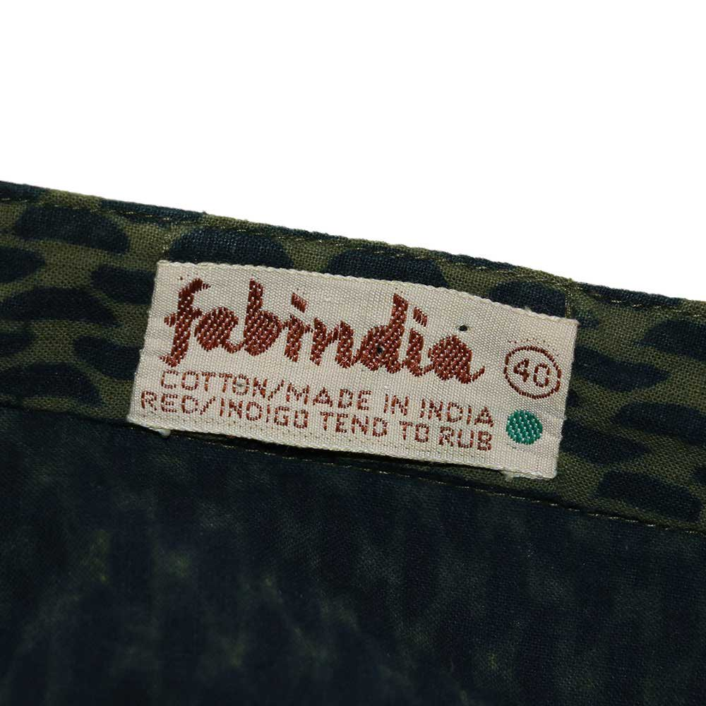w-means(ダブルミーンズ) fabindia コットン長袖シャツ(Made in INDIA)表記40  総柄 詳細画像4