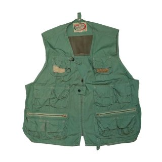 WORLD FAMOUS 100%Cotton Fishing Vest 表記L  鶯色