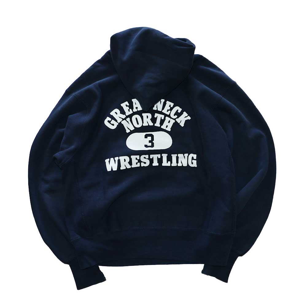w-means(ダブルミーンズ) Champion REVERSE WEAVE WARMUP Hood Sweat(Made in U.S.A.)表記M - D.Navy 詳細画像