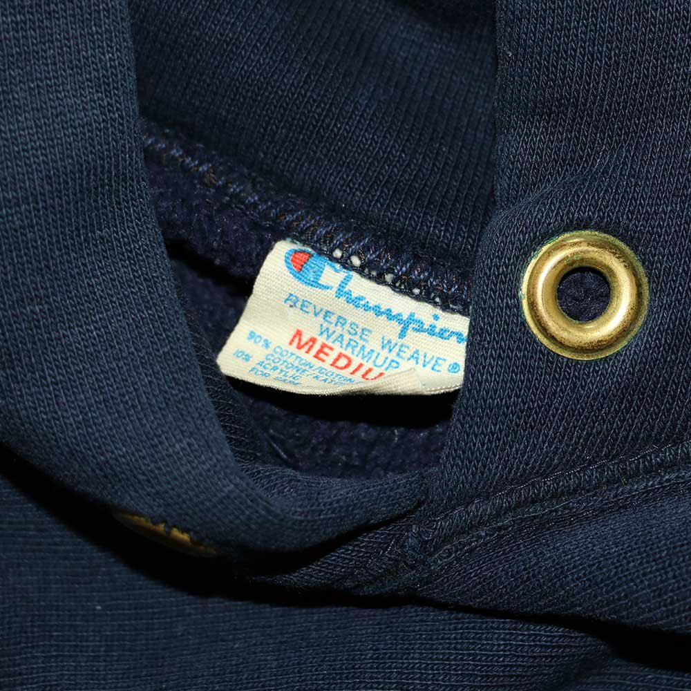 w-means(ダブルミーンズ) Champion REVERSE WEAVE WARMUP Hood Sweat(Made in U.S.A.)表記M - D.Navy 詳細画像2