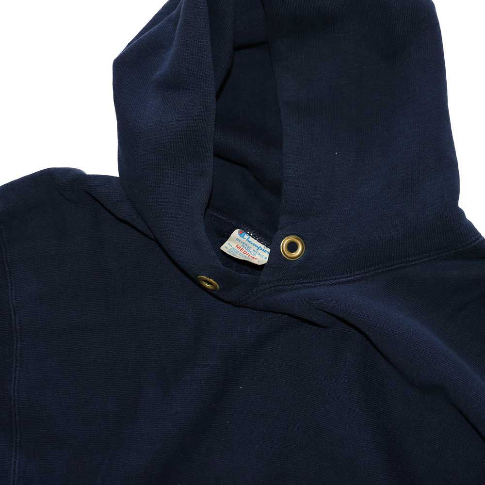 w-means(ダブルミーンズ) Champion REVERSE WEAVE WARMUP Hood Sweat(Made in U.S.A.)表記M - D.Navy 詳細画像4
