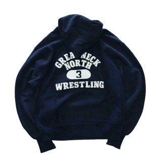 Champion REVERSE WEAVE WARMUP Hood Sweat(Made in U.S.A.)表記M - D.Navy
