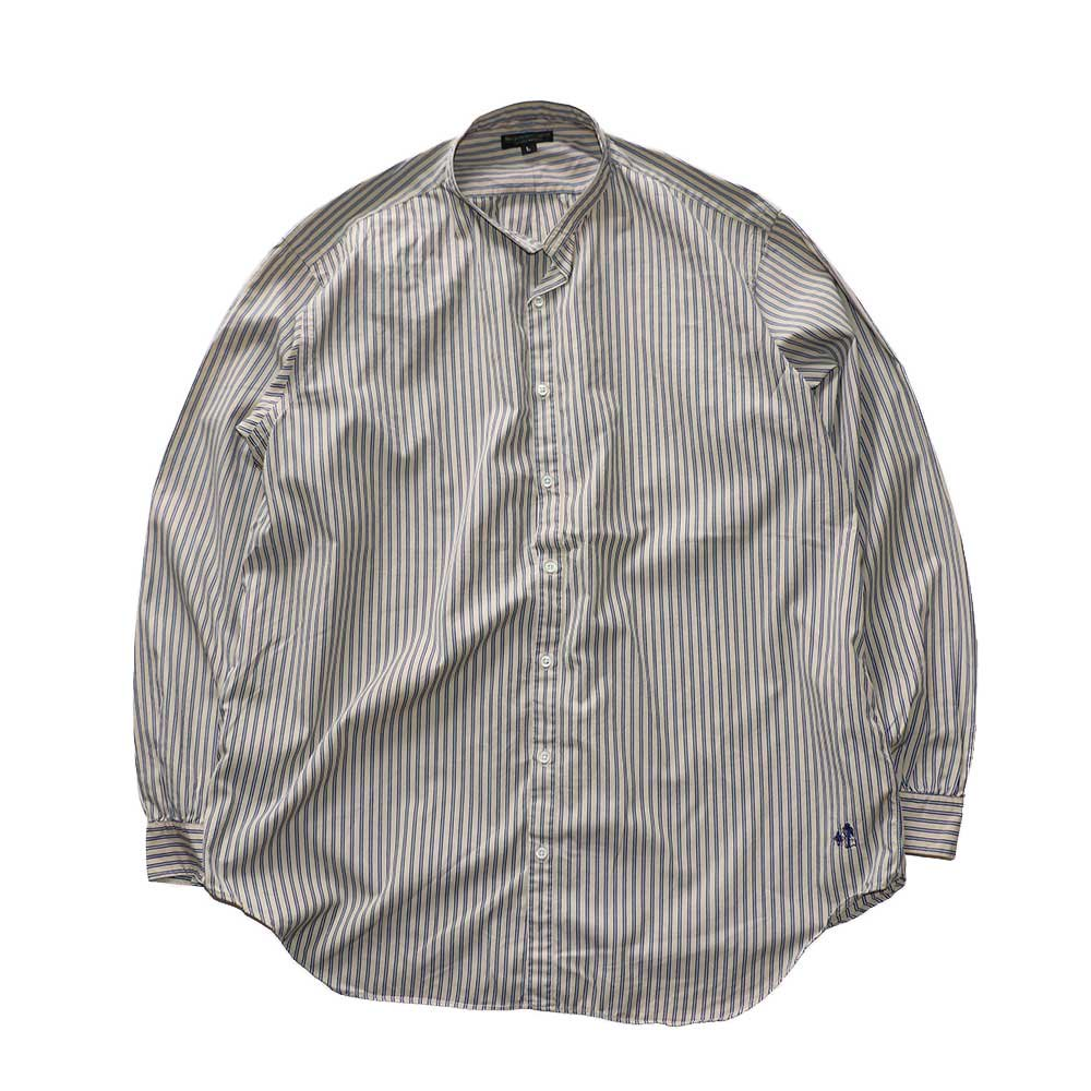w-means(ダブルミーンズ) The J.Peterman Company 100% cotton shirt (Made in U.S.A.)表記L  ストライプ柄 詳細画像