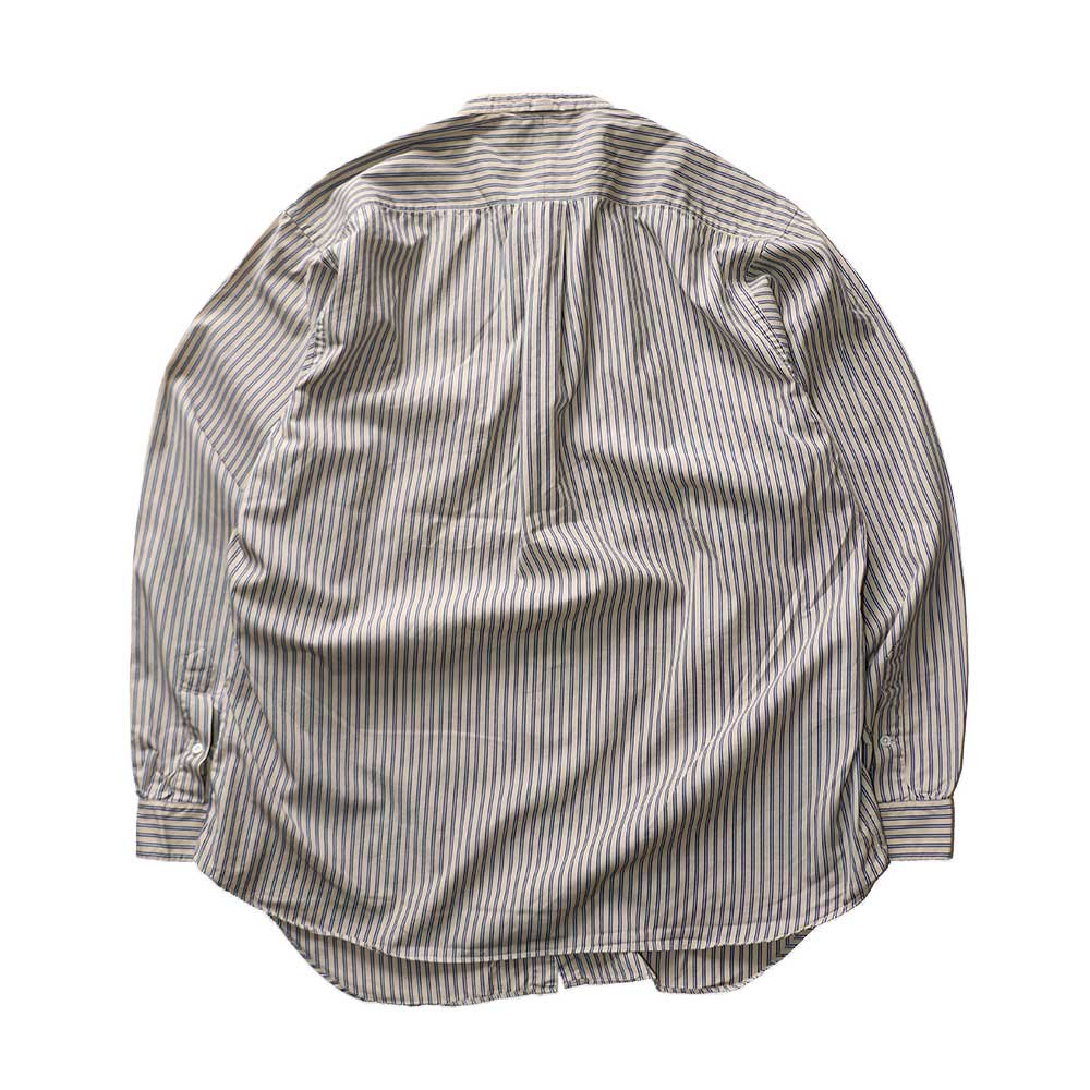 w-means(ダブルミーンズ) The J.Peterman Company 100% cotton shirt (Made in U.S.A.)表記L  ストライプ柄 詳細画像1