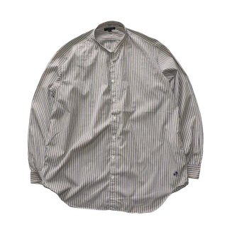 The J.Peterman Company 100% cotton shirt (Made in U.S.A.)表記L  ストライプ柄