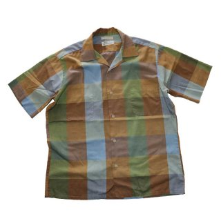 Robinsons vintage opencolor shirt  表記M  マドラスチェック
