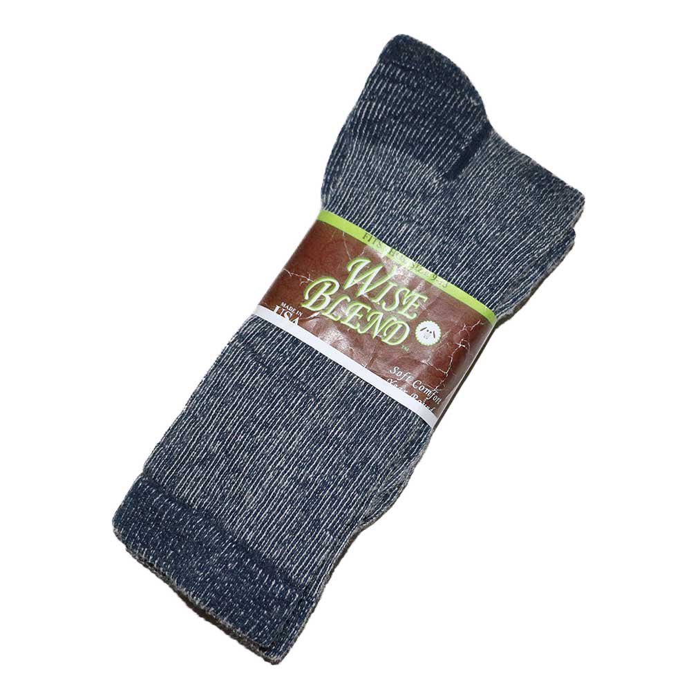 w-means(ダブルミーンズ) Wise blend wool socks(Made in U.S.A.)表記9-13  Gray 詳細画像