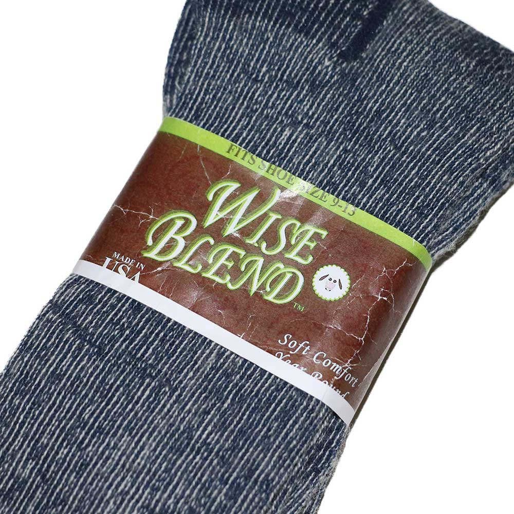 w-means(ダブルミーンズ) Wise blend wool socks(Made in U.S.A.)表記9-13  Gray 詳細画像1