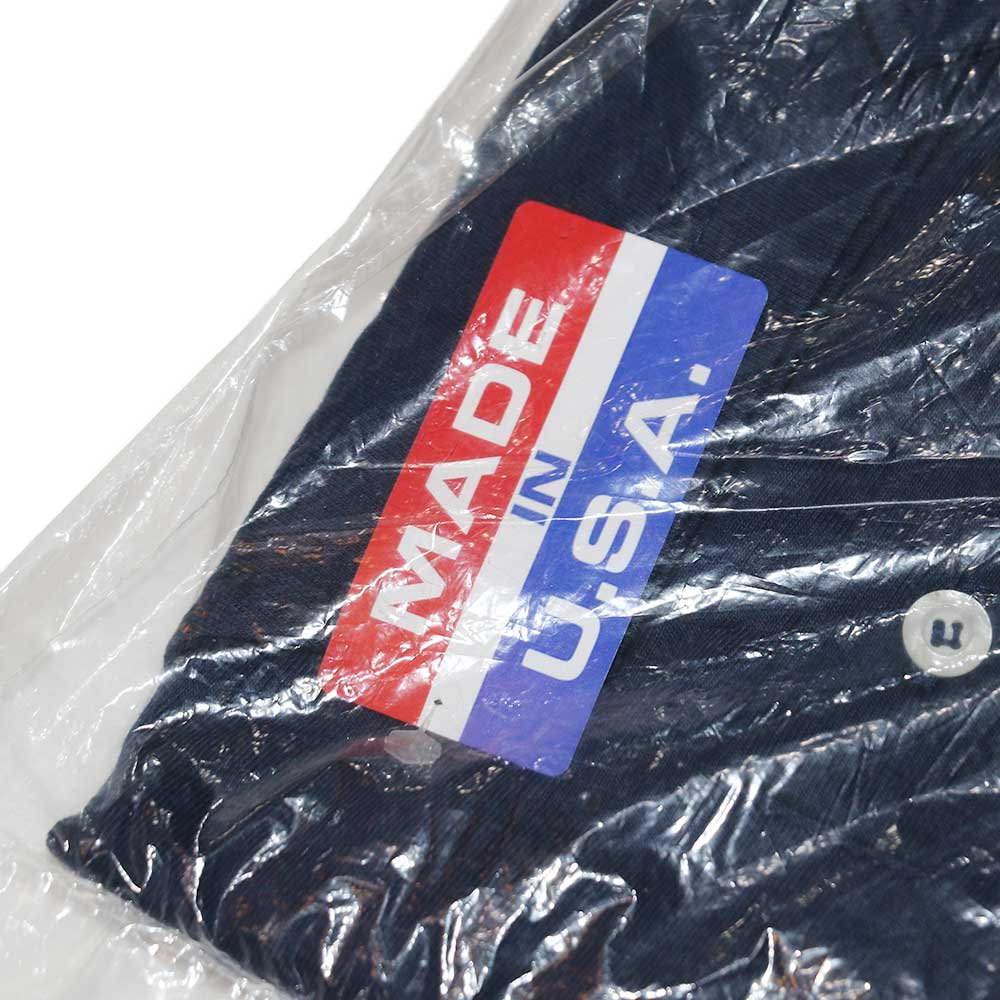 w-means(ダブルミーンズ) CAMBER コットン半袖ポロシャツ(Dead Stock)- (Made in U.S.A.)表記M  NAVY 詳細画像2