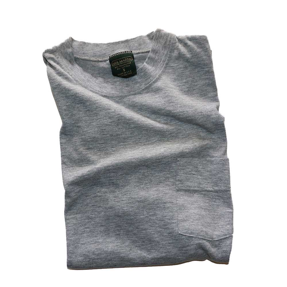 w-means(ダブルミーンズ) NEIL MARTIN 50/50 半袖ポケットTシャツ  表記S(Made in U.S.A.)Gray 詳細画像